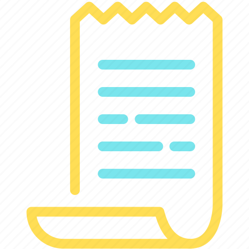 bill, document, invoice, payment, price, receipt icon