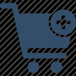 add, basket, buy, cart, shopping, store, trolley icon