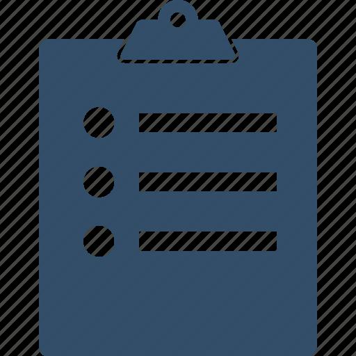 checklist, clipboard, shopping, survey, tasks, ticks icon