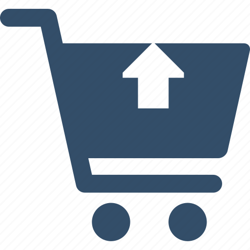 basket, cart, shop, shopping, store, trolley, up icon