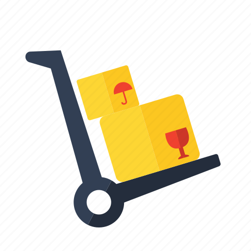 cart, delivery, hand, trolley icon icon