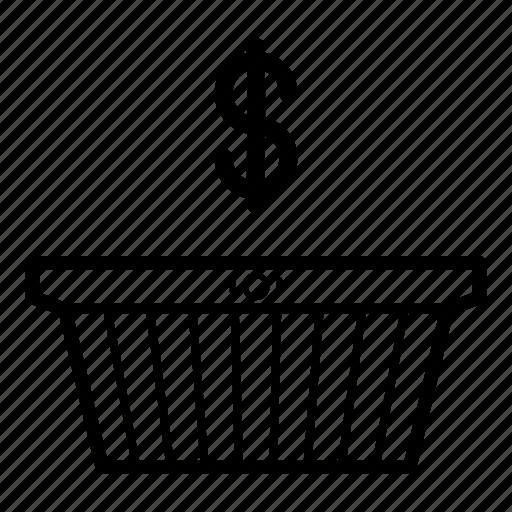 basket, business, buy, purchase, shopping, shopping basket, store icon
