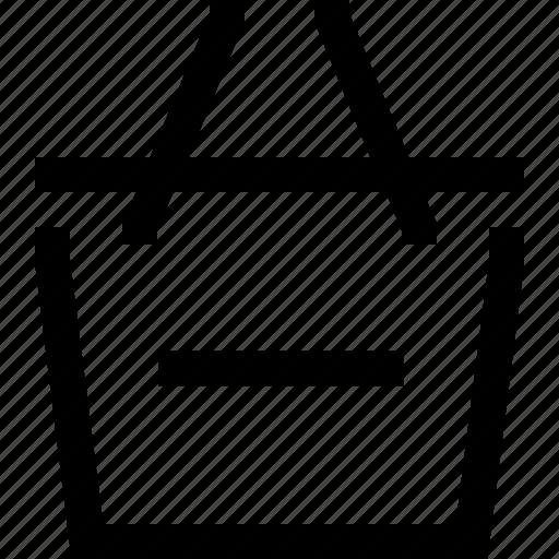 delete, empty, hand bag, minus, shop, shopping bag, shopping cart icon