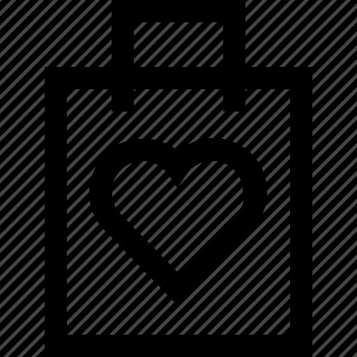 hand bag, heart, love, shop, shopping bag, shopping cart icon