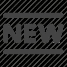 ecommerce, label, new, product, shopping icon