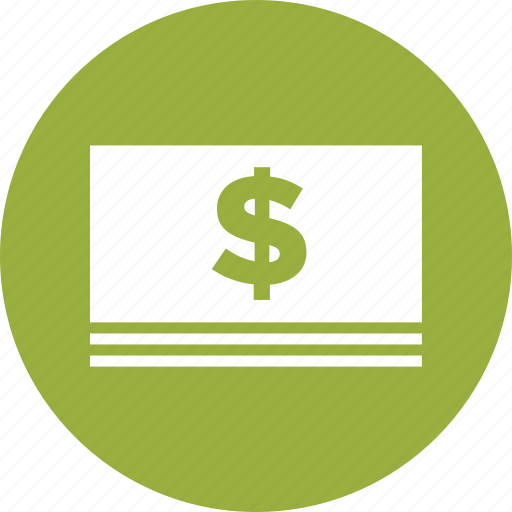 bills, cash, dollars, income, money, payment, savings icon
