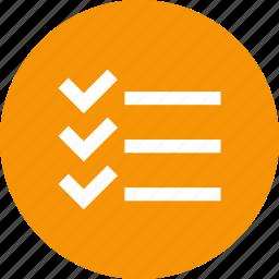 check, checklist, list, shopping, task icon