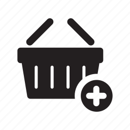 add, basket, carry, ecommerce, plus, shop, shopping icon