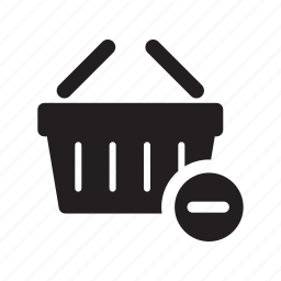 basket, carry, delete, ecommerce, remove, shop, shopping icon