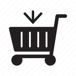 add, arrow, cart, down, ecommerce, input, shopping icon
