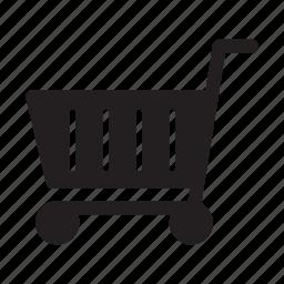 cart, ecommerce, push, shopping, stripes, wheels icon