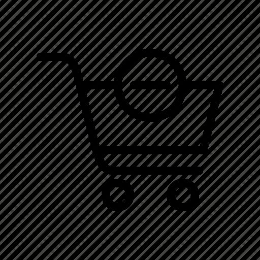 buy, cart, remove product, shop, shopping, shopping cart, shopping trolley icon