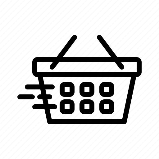 basket, buy, cart, moving shopping cart, shop, shopping, shopping cart icon