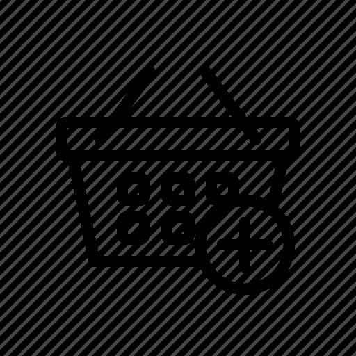add product, basket, buy, cart, shop, shopping, shopping cart icon