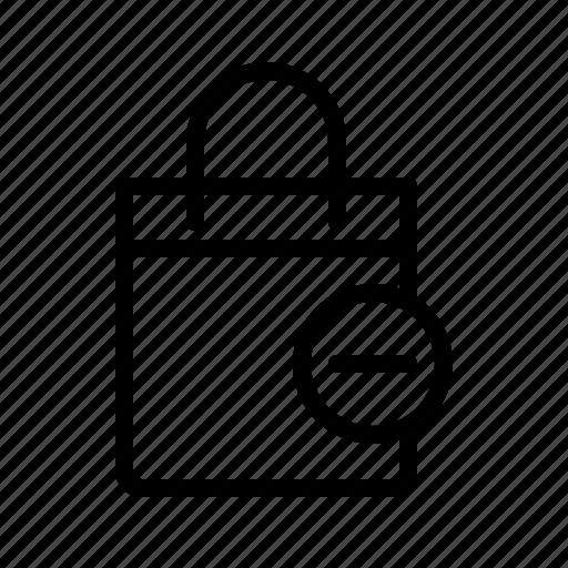 bag, buy, remove product, shop, shopping, shopping bag icon