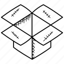 cardboard box, delivery box, new product, open cardboard box, shipping box icon