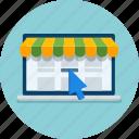 online, online store, shop icon