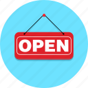 open, shop icon