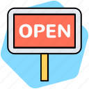 open, shop, sign icon