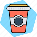 coffee, coffee cup, cup, takeout icon
