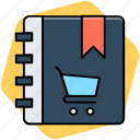 album, diary, jotter, notebook, notepad icon