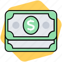 cash, dollar, money, paper money icon