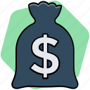 bag, bank, dollar, money icon