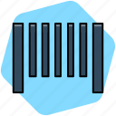 bar, bar code, barcode, code icon