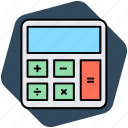 accounting, calculator, math icon