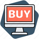 buy online, e commerce, online shopping, online store icon