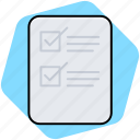 checklist, clipboard, list, paper, shopping list icon