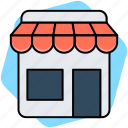 market, market store, shop, store icon