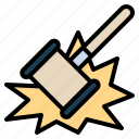 auction, discount, hammer, justice, sale icon