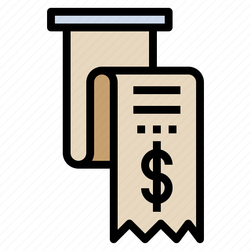 bank, bill, invoice, payment, receipt, statement icon
