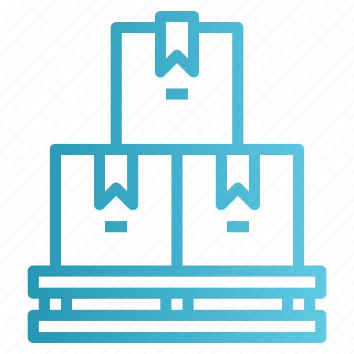 pallet, shipping, stock, store, warehouse icon