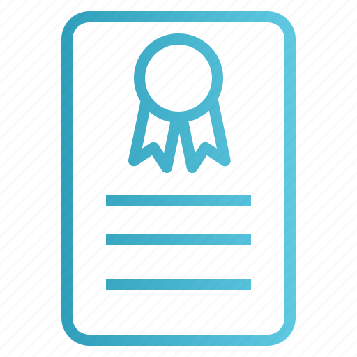 Certificate, certification, degree, insurance, warranty icon - Download on Iconfinder
