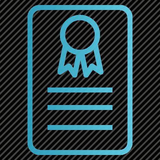 certificate, certification, degree, insurance, warranty icon