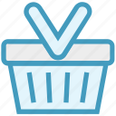 basket, buy, cart, retail, shopping, shopping basket icon