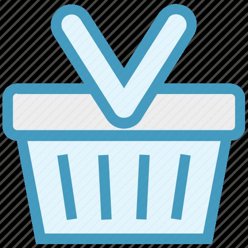 basket, buy, cart, retail, shopping, shopping basket icon