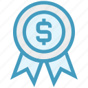 dollar sign, favorite, medal, recommend, reward, shopping, top icon