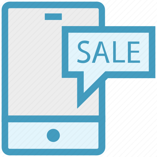 discount, mobile, offer, phone, sale, shopping, smartphone icon