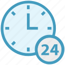 24 hours, alarm, around the clock, clock, shopping, time, watch icon