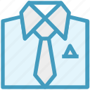 businessman, clothes, fashion, official wear, shirt, shopping, tie icon