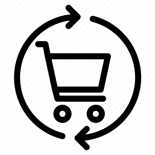 cart, refresh, shopping icon