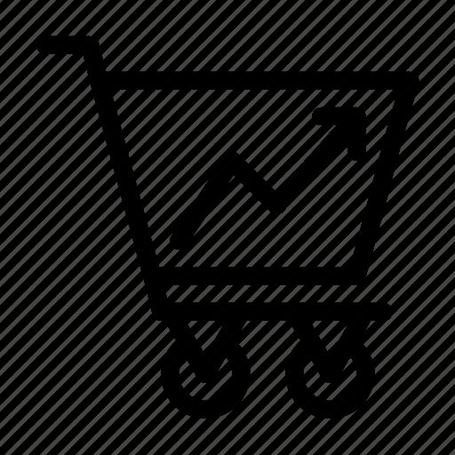 cart, increase, shopping icon