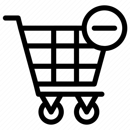 cart, shopping, subtract icon