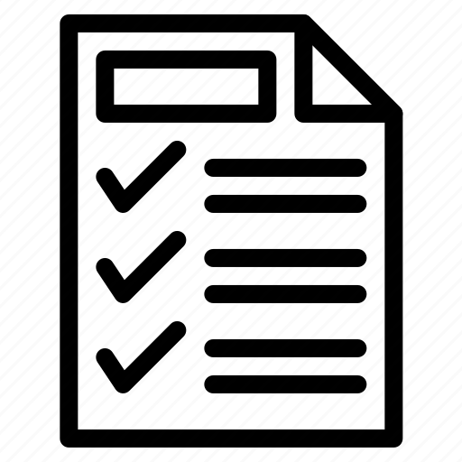 detail, list, shopping icon