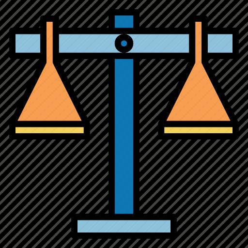 balance, law, profit, scale, shopping icon