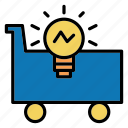 bulb, idea, light, shopping icon