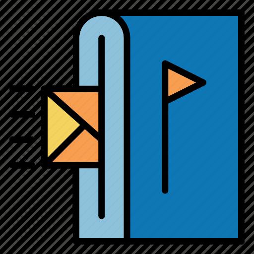 box, mail, shopping icon